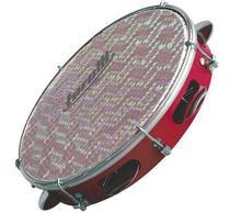 Pandeiro torelli tp308 abs vermelho pele holografica -