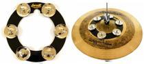 Pandeirola de Chimbal Torelli Ring Hat TA525 para Fixar no Chimbal no Ride como Chuveirinho -