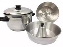 Panela Cozi Vapor Banho Maria 3x1 - Alumínio Extra