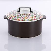 Panela de cerâmica com tampa de porcelana ziggy 2l - French Bull