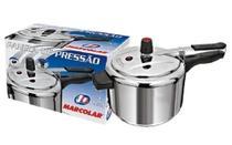 Panela de pressão 4,5 litros - aluminio - polida - marcolar - São Jorge