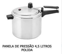 Panela de Pressão 4,5 Litros Polida Inmetro - ALUMÍNIO SÃO JORGE