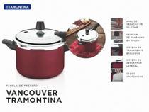 Panela de Pressão 6l 24cm Tramontina Vancouver Vermelha -