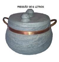 Panela de Pressão de Pedra 6 litros - Panela De Pedrarte De Minas
