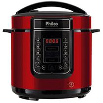 Panela de Pressão Digital 6L Inox Vermelha Philco 127V -