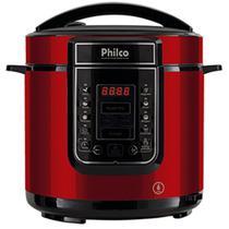 Panela de Pressão Digital 6L Inox Vermelha Philco 220V -