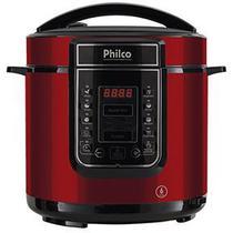 Panela de Pressão Digital Philco 6L Inox Vermelha -
