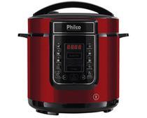 Panela de Pressão Digital Philco Inox Vermelha 6 Litros 1000W -