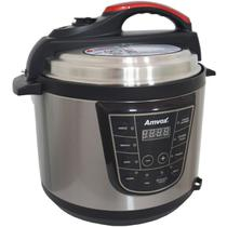 Panela de Pressão Elétrica Digital 5 Litros Timer Multifuncional Arroz Sopa Carne Amvox APS 005 -
