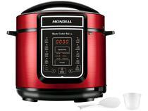 Panela de Pressão Elétrica Digital Mondial - Master Cooker Red PE-39 900W 5L