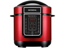 Panela de Pressão Elétrica Digital Mondial  - Master Cooker Red PE-41 700W 3L Timer