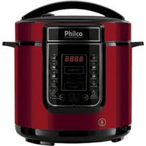 Panela de Pressão Elétrica Digital PPP01, 1000W, Inox/Vermelho - 110V - Philco