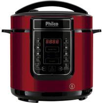 Panela de Pressão Elétrica Digital PPP01, 1000W, Inox/Vermelho - 220V - Philco