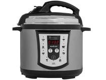 Panela de Pressão Elétrica Digital SteamMax 800W  - 4L Timer Controle de Temperatura Inox