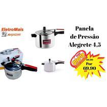 Panela De Pressão Em Alumínio Polido Alegrete 4,5 litros -