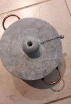 Panela de pressão em pedra sabão 6 litros - Minas Pedra Sabão