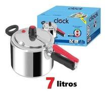 Panela De Pressão Original Alumínio Clock Polida 7 Litros -
