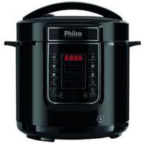 Panela de pressao philco digital inox 6l pr ppp01p inox preto - 220v -