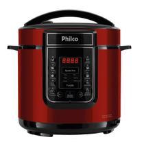 Panela Elétrica de Pressão Philco 6 Litros Painel Digital com 13 Funções Vermelha -