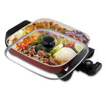 Panela Elétrica Multifuncional Super Chef Ceramic BPE05V Britânia Vermelha -