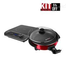 Panela Elétrica Rouge + Cooktop Perfect Cuisine Indução 1 boca - Cadence 220V -