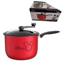 Panela Pipoqueira Alumínio Mickey 5,5L Antiaderente Tampa Vidro Manual Cozinha -  7222/154 Brinox -