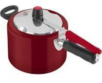 Panela pressao  4,5l polida clock vermelha original r.4950 -