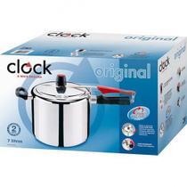 Panela Pressão Polida 7,0 Litros Original Clock 9295302826 -