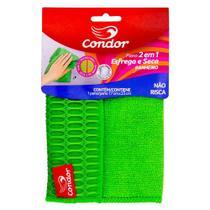 Pano Banheiro Esfrega e Seca Verde Condor 17cm x 23cm - Condor - Any