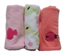 Pano de Boca para Bebê (3 unidades) Passarinho Rosa - Colo de Mãe -