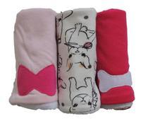 Pano de Boca para Bebê (3 unidades) Pug Rosa - Colo de Mãe -