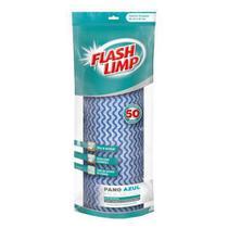 Pano De Limpeza Multiuso Flaslimp Rolo Com 50 Panos - Flashlimp