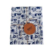 Pano de Louça Kitchen Azul Pack com 03 unidades - Sweet  Casa