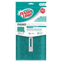 Pano microfibra para chão com furo 50x60cm - FLASH LIMP