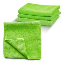 Pano Microfibra Verde 40x40 Limpa Vidro E Da Brilho Kit C/ 4 - Nobre