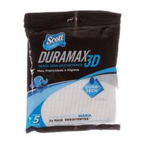 Pano Multiuso Branco Scott Duramax 3D com 5 Unidades -