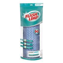 Pano multiuso lavavel flash limp azul rolo 50un secagem rapi - FLASHLIMP