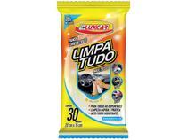 Pano Umedecido Limpa Tudo para Automóveis Luxcar - 30 Unidades
