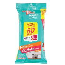 Pano Umedecido para Cozinha Bettanin Esfrebom Wipes 50 Peças 4663 -