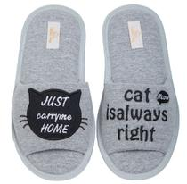 Pantufa Cat Aberta 35/36 Cotton Day - 10402