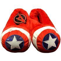 Pantufa Infantil Herói Escudo Capitão América Vingadores Marvel - Tamanho 28/29 -