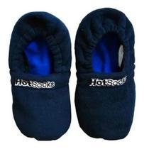 Pantufa Térmica Hot Socks Aquecida No Microondas Azul Tam. Pequeno -