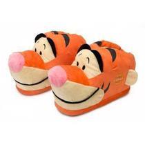 Pantufa tigrão desenho ursinho pooh 3d laranja preta - Ricsen