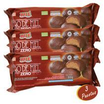Pão De Mel Diet Zero Açúcar E Sem Lactose 80g - Caixa C/ 3 Unidades - Hué Alimentos