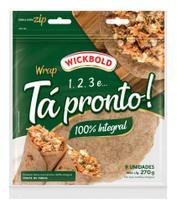 Pão Tipo Tortilha Tá Pronto 100% Integral 270G - Wickbold