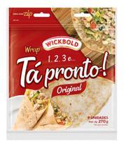 Pão Tipo Tortilha Tá Pronto Original 270G - Wickbold