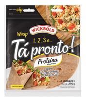 Pão Tipo Tortilha Tá Pronto Proteína 270G - Wickbold