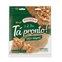 Pao Tortilha Ta Pronto Integral 270g Wickbold -