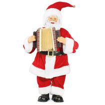 Papai Noel C/Acordeon com Música / Movimento 66cm - Magizi - Yangzi