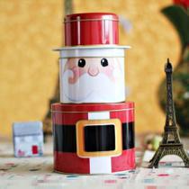 Papai Noel De Lata Enfeite Decoração Presente Natal 3 Camada - Nova